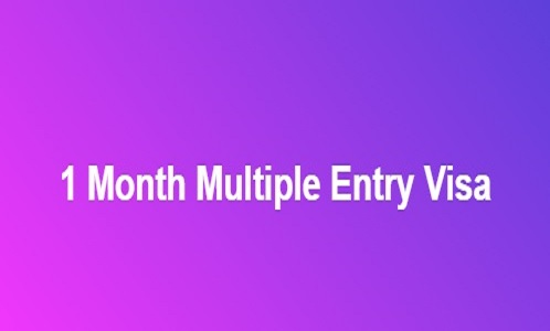 1 Month Multiple Entry Visa